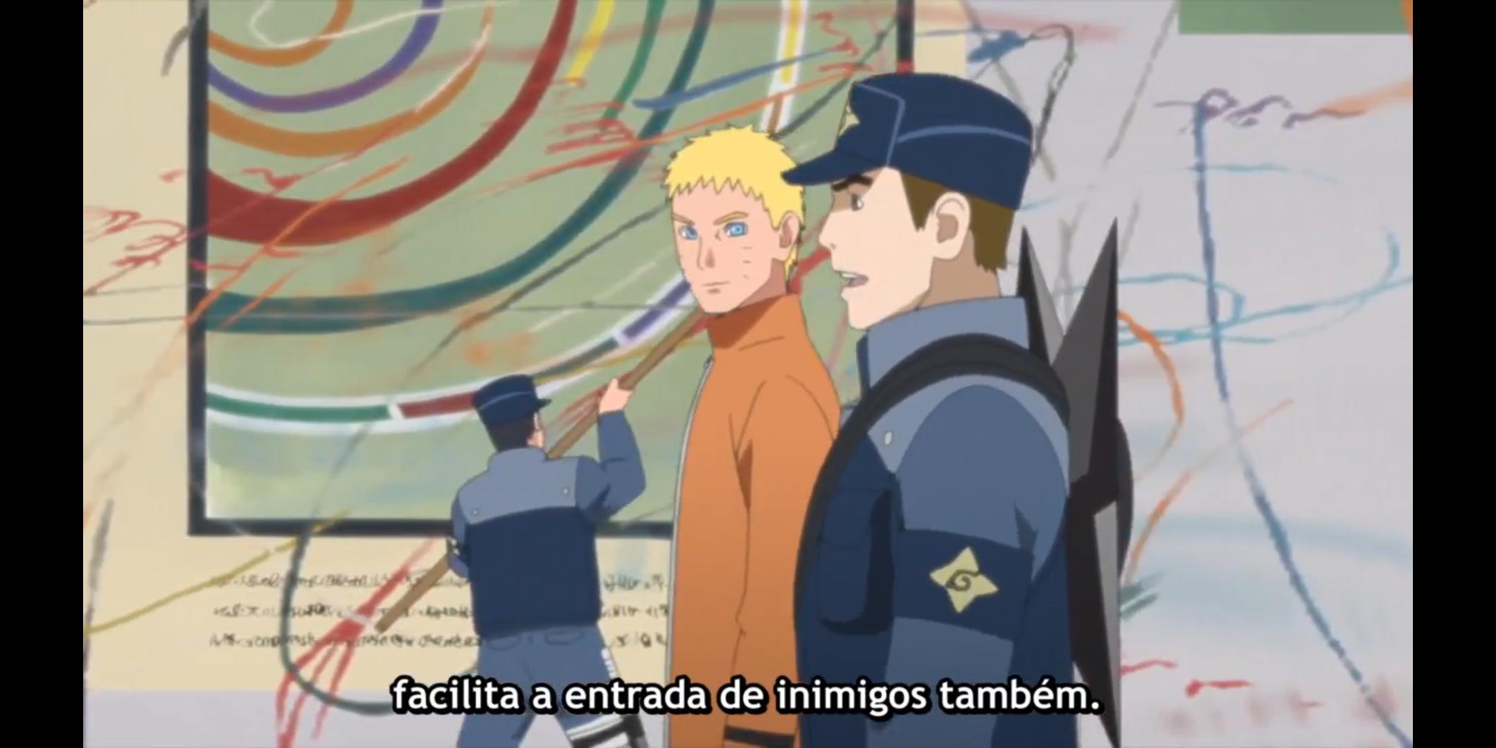 Episódio 176 de Boruto - Naruto fiscalizando a vila