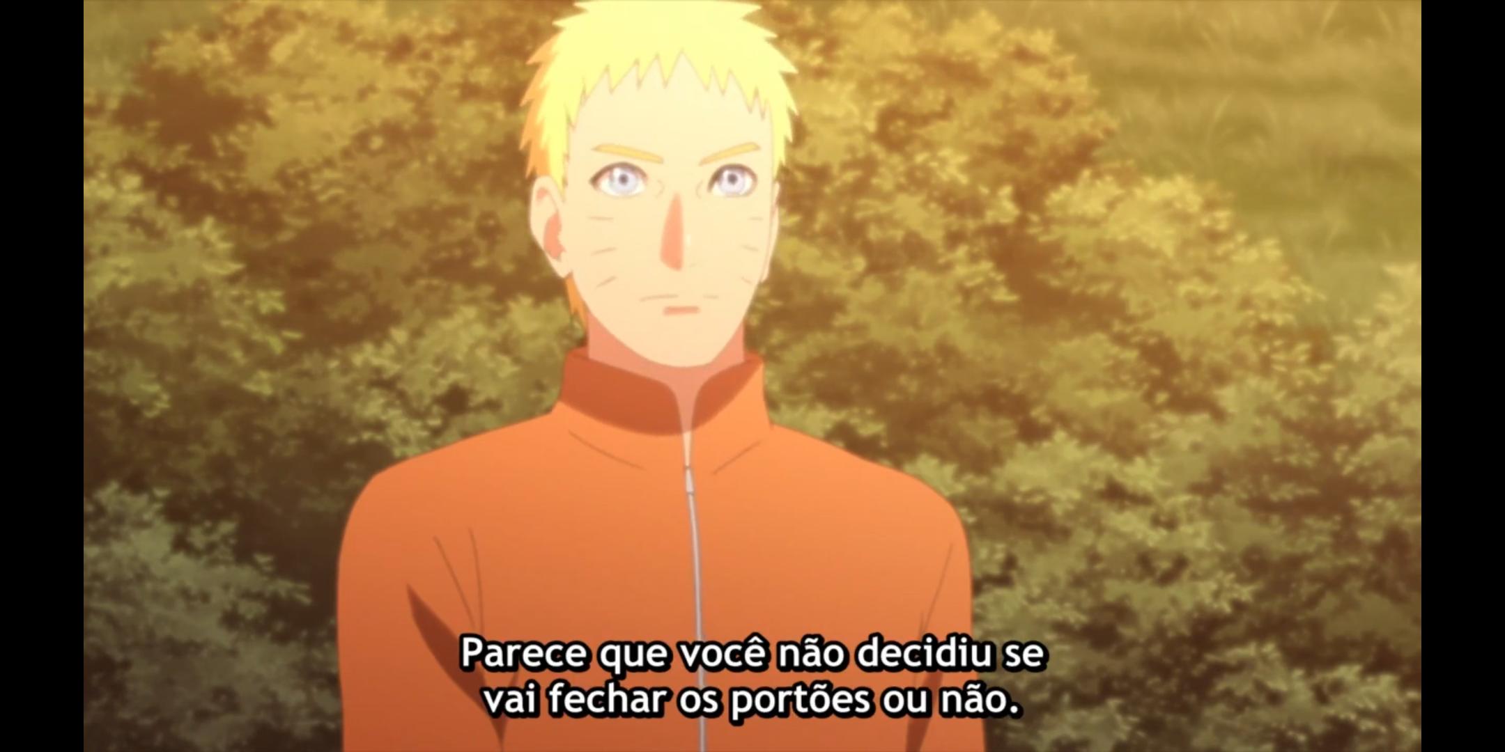 Episódio 176 de Boruto - Kakashi conversa com Naruto