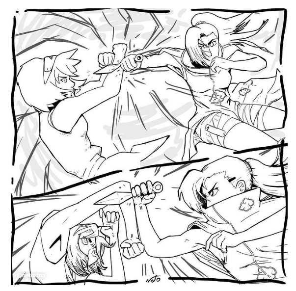 Ino vs Sakura - Akatsuki