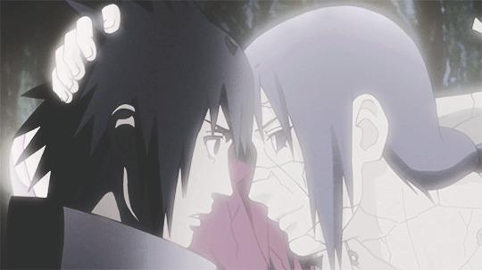 Sasuke e Itachi despedida