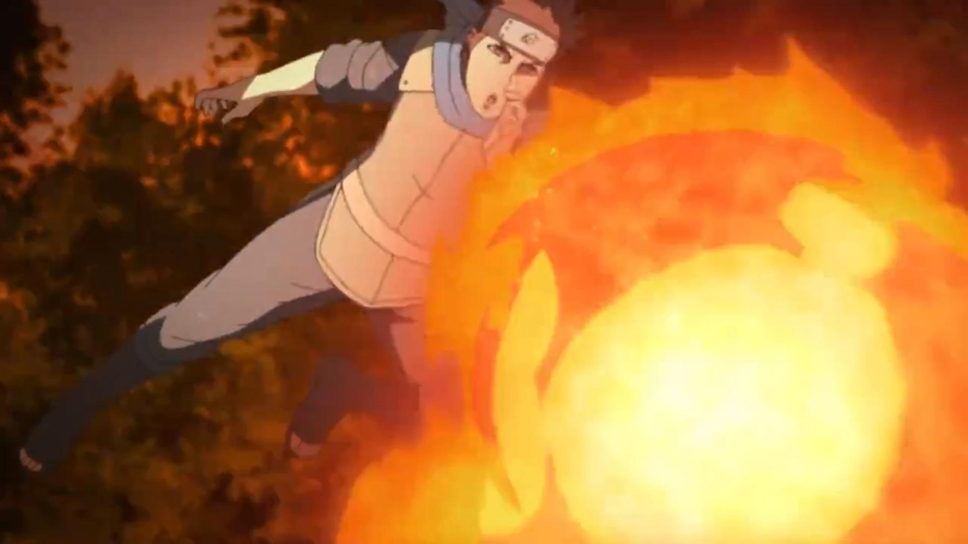 Konohamaru - Estilo fogo - Katon