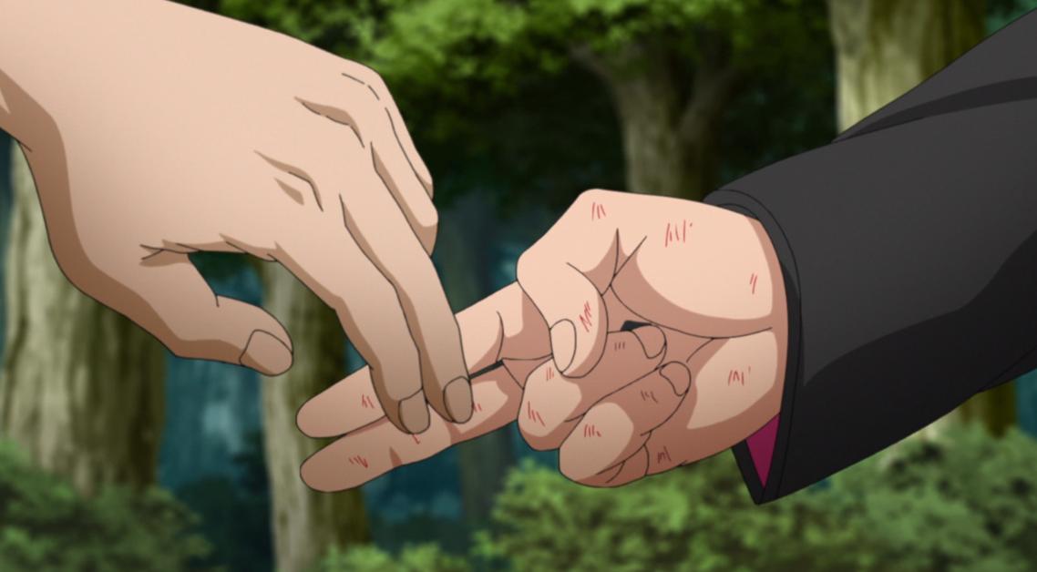 Boruto e Kawaki no episódio 197