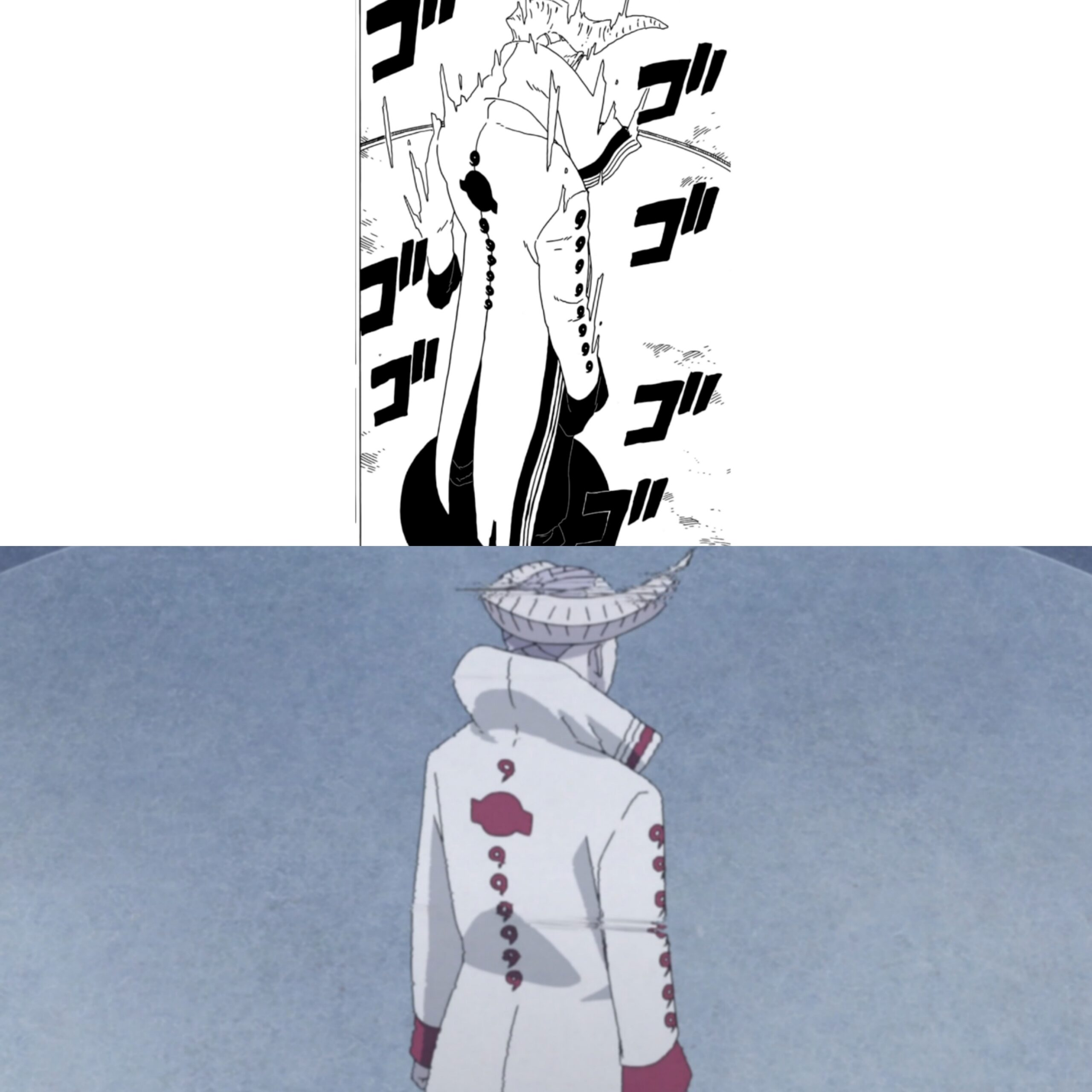 Isshiki - comparação do capítulo 35 com o episódio 202