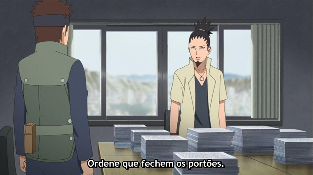 Shikamaru toma o comando de Konoha