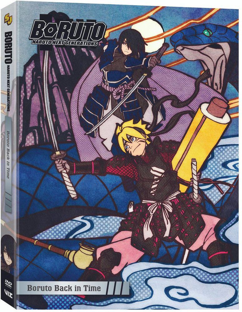 Sasuke e Boruto na capa do DVD Box set 10