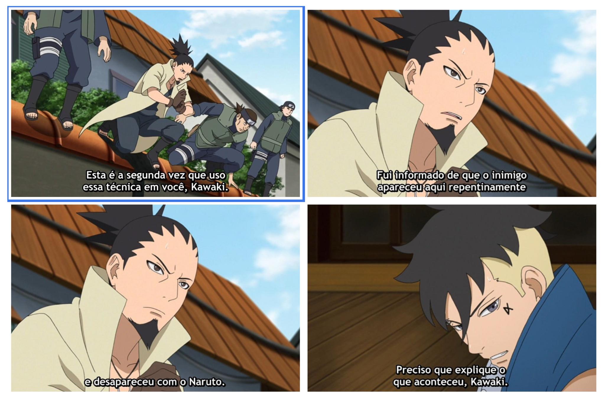 Shikamaru Detêm Kawaki no episódio 205
